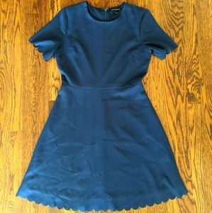 Scalloped Banana Republic dress